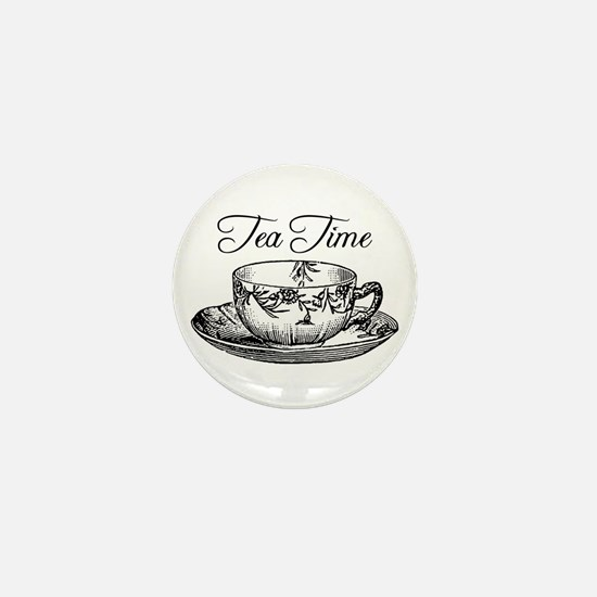 Tea Time Tea Cup Mini Button