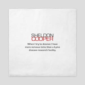 Sheldon Cooper's Deceive Quote Queen Duvet