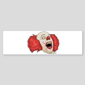 halloween evil clown Bumper Sticker