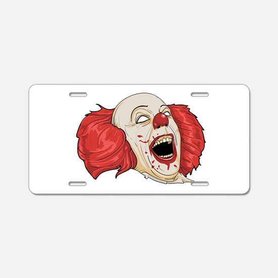 halloween evil clown Aluminum License Plate