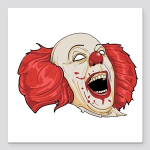 "halloween evil clown Square Car Magnet 3"" x 3"""