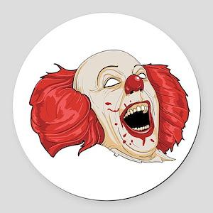 halloween evil clown Round Car Magnet