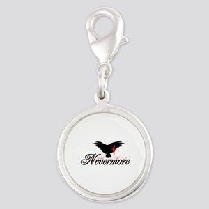 Nevermore - The Following Silver Round Charm