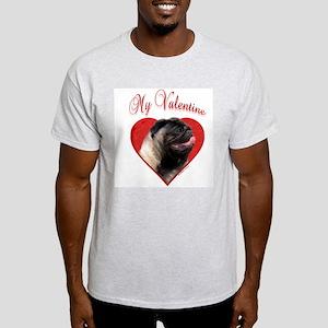 Pug Valentine Ash Grey T-Shirt