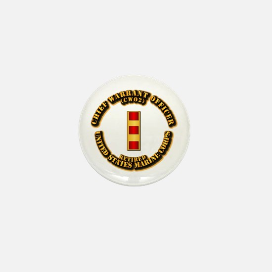 USMC - CW2 - Retired Mini Button