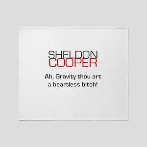 Sheldon Cooper's Gravity Quote Throw Blanket