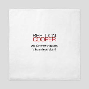 Sheldon Cooper's Gravity Quote Queen Duvet