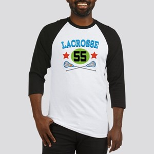 Lacrosse Player Number 55 Baseball Jersey