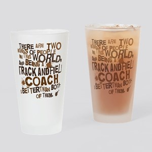 trackandfieldcoachbrown Drinking Glass
