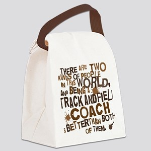 trackandfieldcoachbrown Canvas Lunch Bag