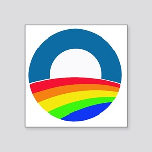 "Obama same sex Square Sticker 3"" x 3"""
