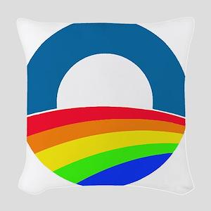 Obama same sex Woven Throw Pillow