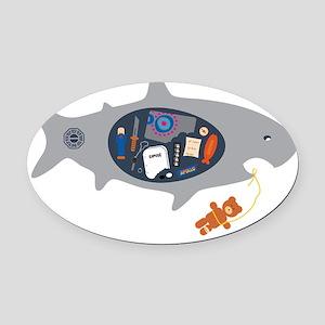 lost shirt-alt Oval Car Magnet