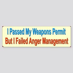 Weapons Permit Bumper Sticker