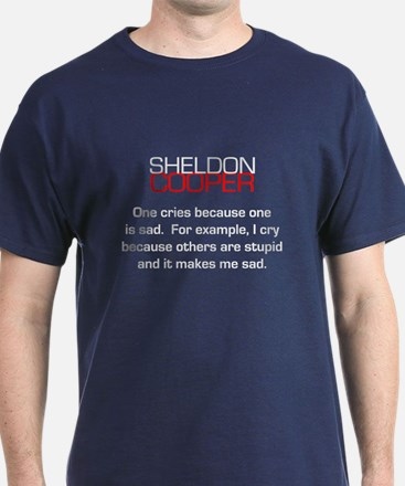Sheldon Cooper's Reasons to Cry T-Shirt