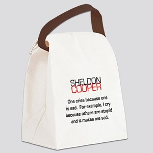 Sheldon Cooper's Reasons to Cry Canvas Lunch Bag