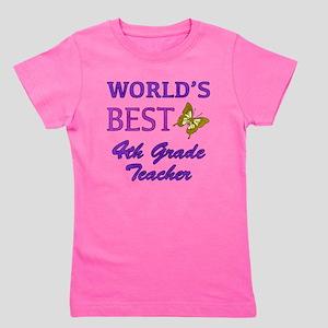 World's Best 4th Grade Teacher Girl's Tee