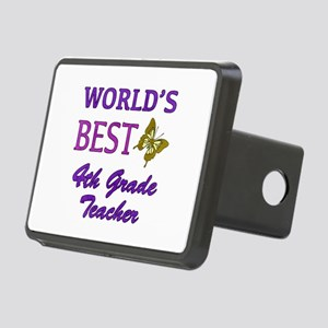 World's Best 4th Grade Teacher Rectangular Hitch C