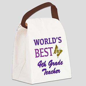 World's Best 4th Grade Teacher Canvas Lunch Bag