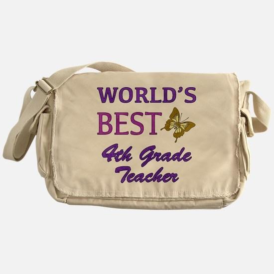World's Best 4th Grade Teacher Messenger Bag