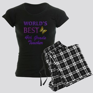 World's Best 4th Grade Teacher Women's Dark Pajama
