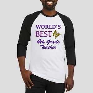 World's Best 4th Grade Teacher Baseball Jersey