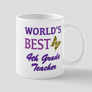 World's Best 4th Grade Teacher Mug