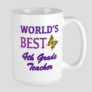 World's Best 4th Grade Teacher Large Mug