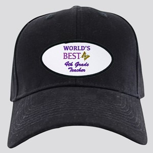 World's Best 4th Grade Teacher Black Cap