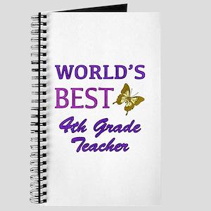 World's Best 4th Grade Teacher Journal