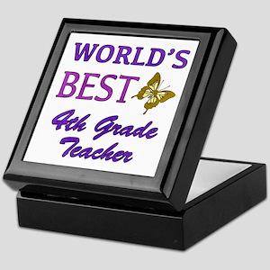 World's Best 4th Grade Teacher Keepsake Box