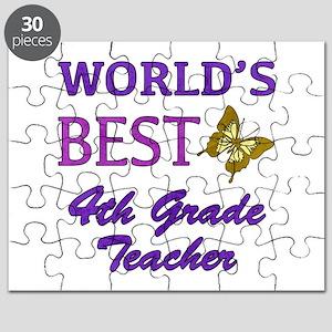 World's Best 4th Grade Teacher Puzzle