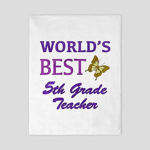 World's Best 5th Grade Teacher Twin Duvet