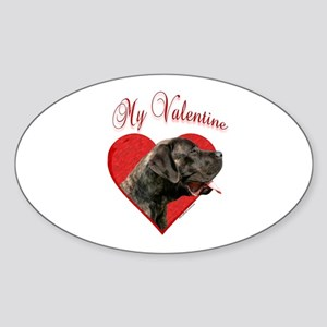 Mastiff Valentine Oval Sticker
