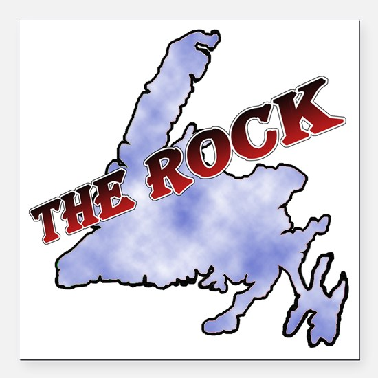 "The Rock with sky textur Square Car Magnet 3"" x 3"""