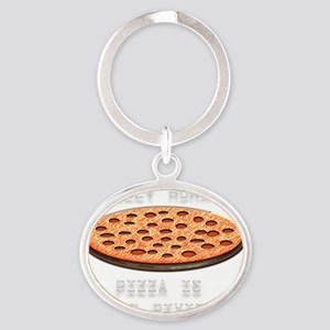 Silly Human-3 Oval Keychain