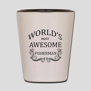 World's Most Awesome Fisherman Shot Glass