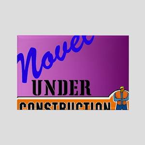 Novel Under Construction journal5 Rectangle Magnet