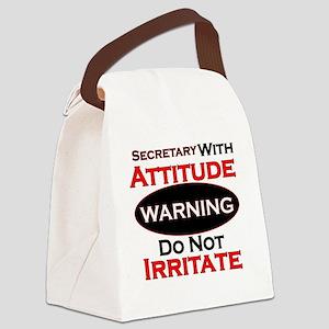 Attitude secretary  Canvas Lunch Bag