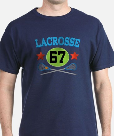 Lacrosse Player Number 67 T-Shirt