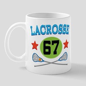 Lacrosse Player Number 67 Mug