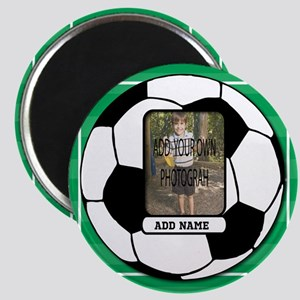 Photo and Name personalized soccer ball Magnets