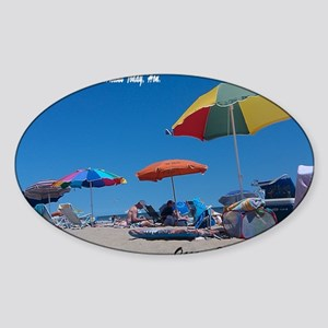 Ocean City, MD Post Card Sticker (Oval)