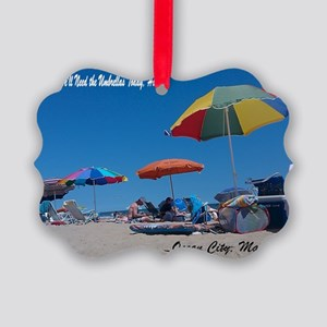 Ocean City, MD Post Card Picture Ornament