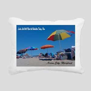 Ocean City, MD Post Card Rectangular Canvas Pillow