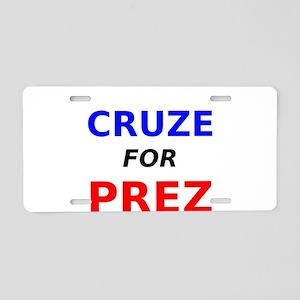 Cruze for Prez Aluminum License Plate