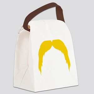 Mustache-042-B Canvas Lunch Bag