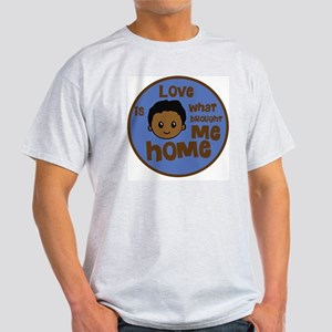 love is what brought me home boy cop Light T-Shirt