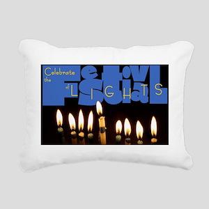 H001_FestivalOfLights co Rectangular Canvas Pillow