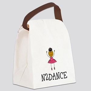 N2dance Ballerina W/ Logo Canvas Lunch Bag